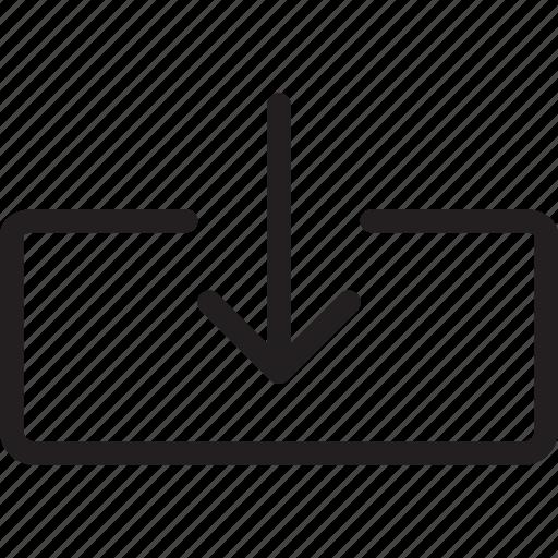 arrow, down arrow, download icon
