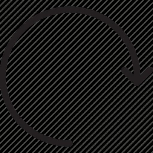 arrow, circle arrow, redo, repeat, restart icon