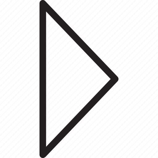 arrow, caret, next, right, triangle icon