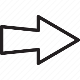 arrow, next, right, triangle icon