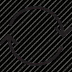 arrow, circle, circle arrow, double arrows, recycle, sync, synchronous icon