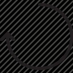 arrow, redo, repeat, restart, undo icon