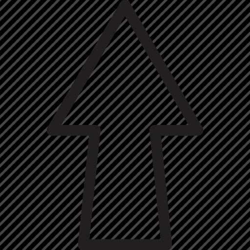 arrow, nav up, top, traingle, up, upload icon