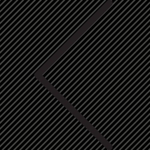 arrow, left, left arrow, left slide icon