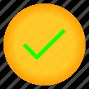 arrow, cheklist, ok, success icon