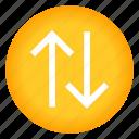 arrow, arrows, direction, vertical icon