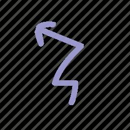 arrows, brush, color, handdrawn, memphis, style icon