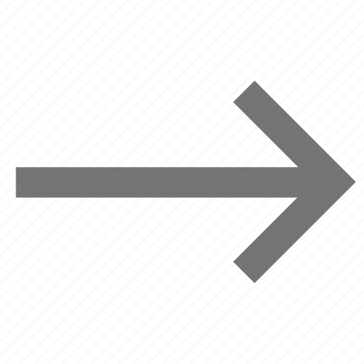 arrow, forward, line, material, right, trending icon