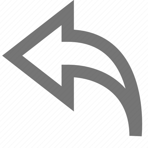 arrow, left, line, material, reply, thin, undo icon