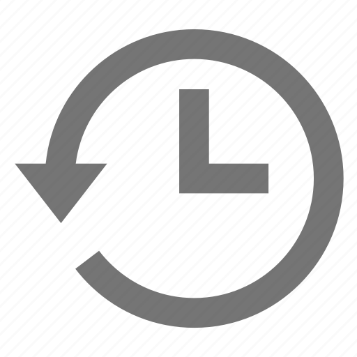 action, arrow, history, line, material, restore, time icon