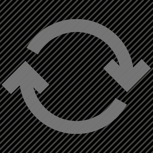 arrow, autorenew, change, loop, material, repeat, sync icon