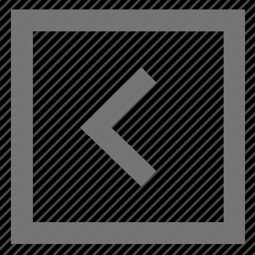 arrow, box, chevron, keyboard, left, material, navigate before icon
