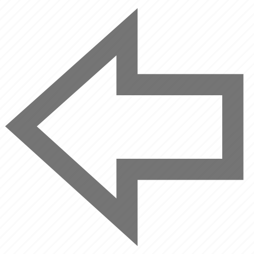arrow, back, left, line, material, outline icon
