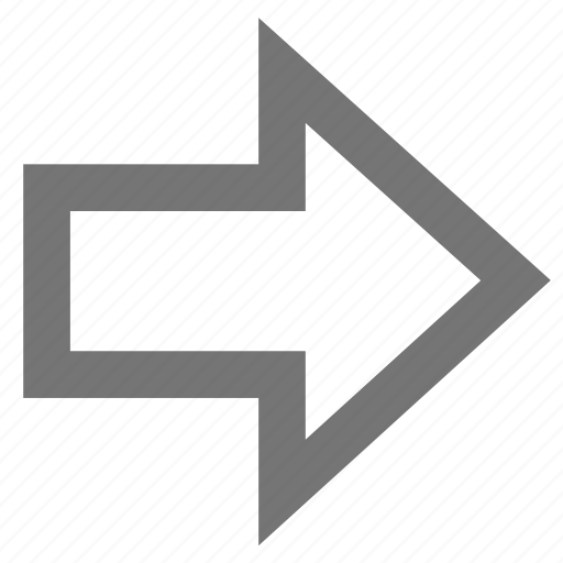 arrow, forward, line, material, outline, right icon