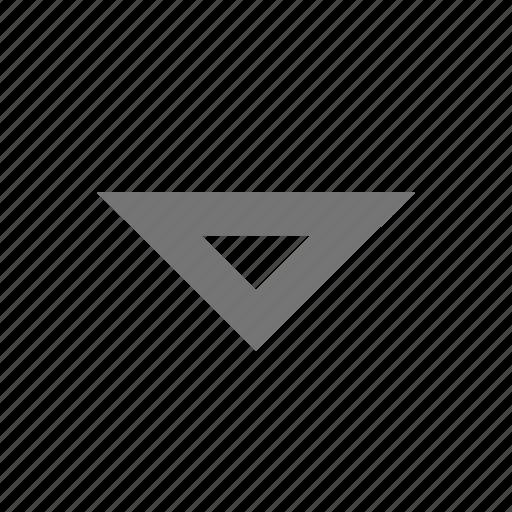 arrow, down, line, material, menu, outline, triangle icon