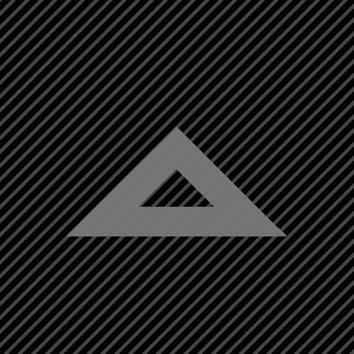 arrow, line, material, menu, outline, triangle, up icon