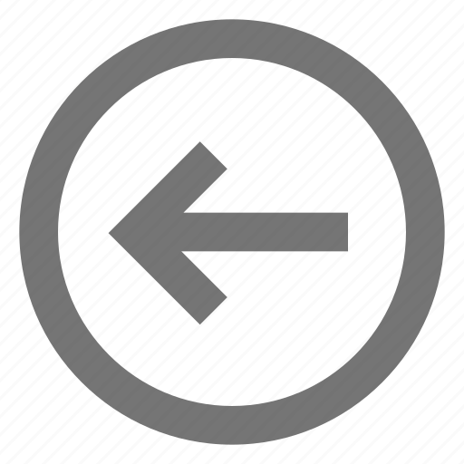 arrow, back, circle, left, material, outline icon
