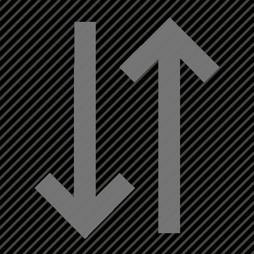 arrow, data transfer, export, import, material, swap vert icon