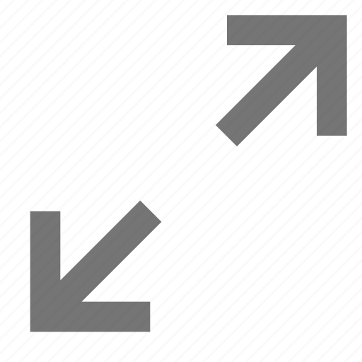 arrow, expand, full screen, material, maximize, window, zoom icon