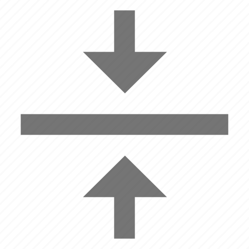align, arrow, center, format, material, middle, vertical icon