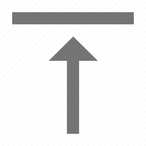 align, arrow, format, material, top, upload, vertical icon