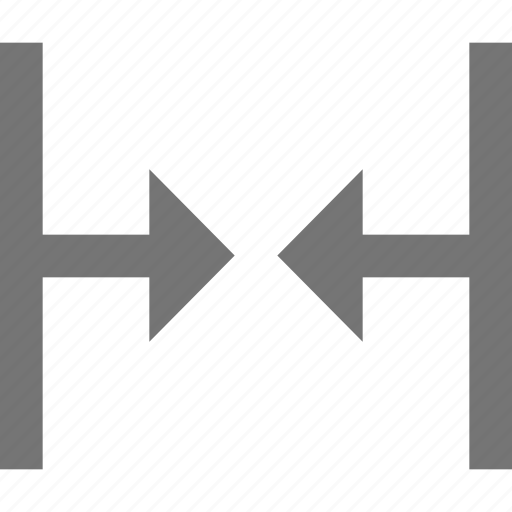 arrow, connection, material, merge, vertical icon