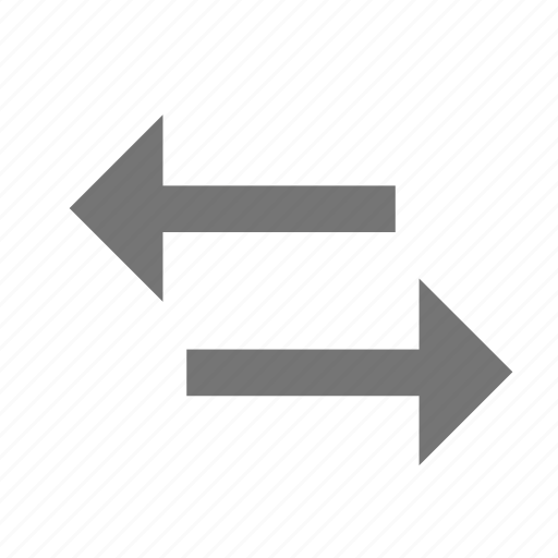 arrow, change, exchange, material, reverse, share, swap horiz icon