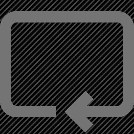 arrow, box, line, material, rotate icon