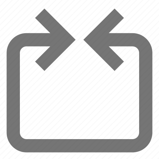 arrow, box, connection, line, material icon