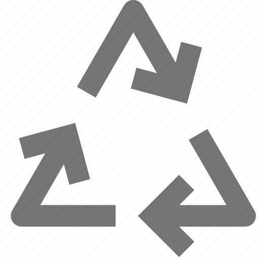 arrow, environment, material, packaging, recycle, recycling icon