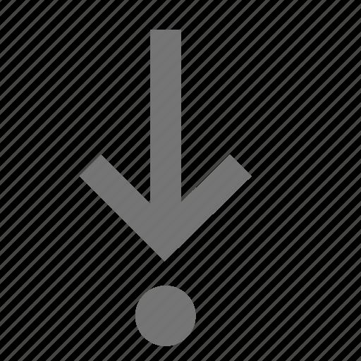 arrow, debug, into, line, material, step icon