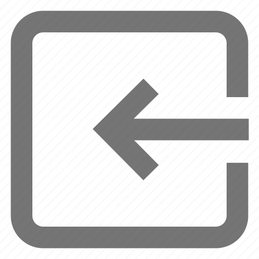 Arrow, box, export, in, left, line, material icon - Download on Iconfinder
