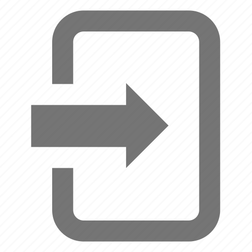 arrow, line, login, material, register, sign in icon