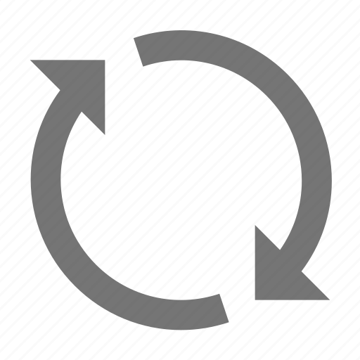 arrow, circle, line, material, sync icon