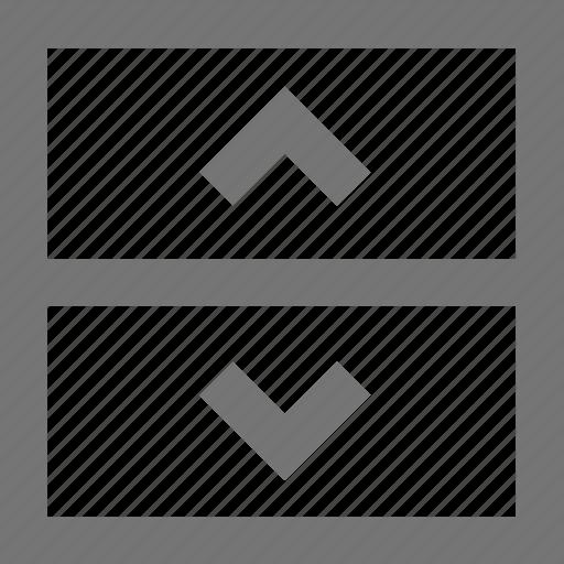 arrow, bar, material, menu, navigation, up down, web icon