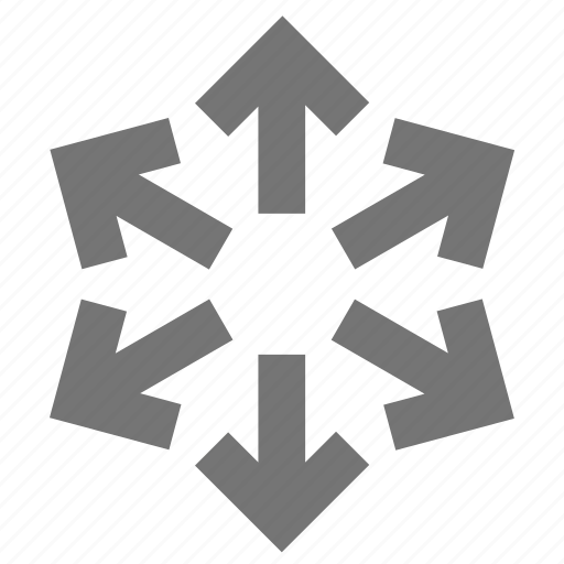 arrow, arrows, direction, logistic, material, outside, pointer icon