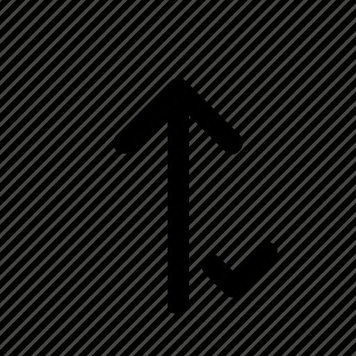 arrows, checklist, done, down, up icon