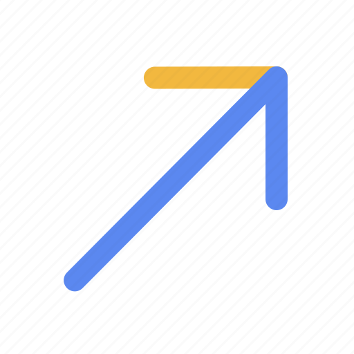Arrow, arrows, direction, right, right top, top icon - Download on Iconfinder