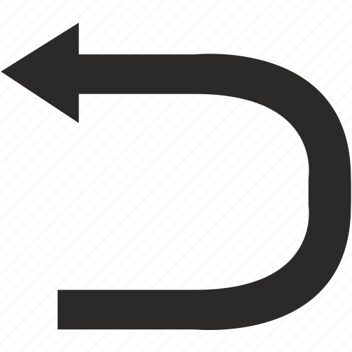 arrow, left, turn, way icon