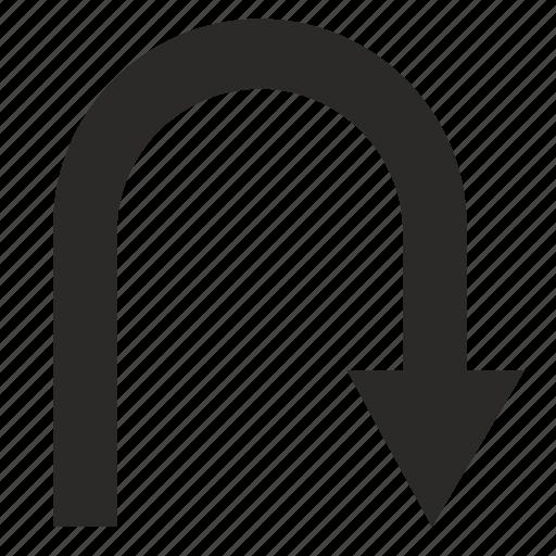 arrow, turn, way icon