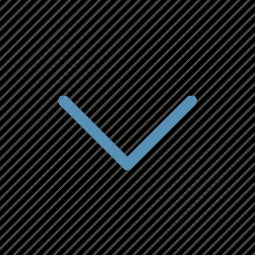 arrow, chevron, direction, down, interface, navigation, user icon