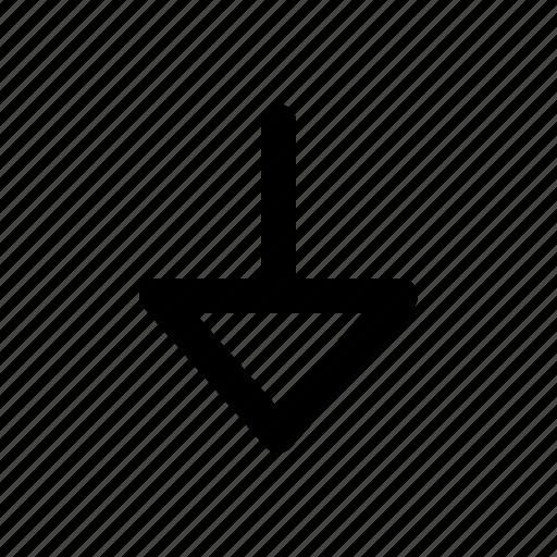 arrows, down, download icon