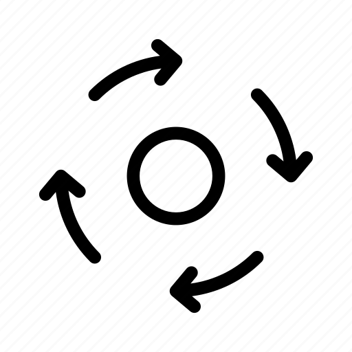 arrow, arrows, circle, clockwise, direction, move, navigation icon