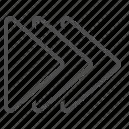 arrows, fast forward, multiple icon