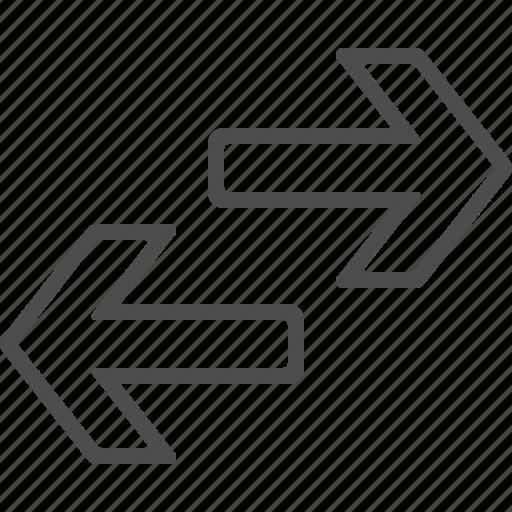 arrow, exchange, left, right icon