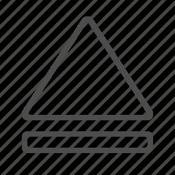 arrow, eject, multimedia icon