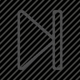 arrow, button, end, multimedia, skip icon