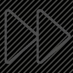 arrows, fast forward, multimedia icon