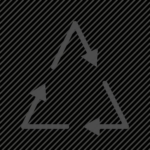 arrow, arrows, triangle icon
