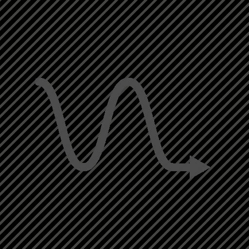 arrow, arrows, right, wave icon